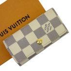 ルイヴィトン Louis Vuitton 4連キーケース ダミエアズール ミュルティクレ4 ダミエキャンバス アズール 定番人気