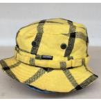 グッドイナフ 帽子 0081347 黄 / イエロー × 黒 / ブラック GOOD ENOUGH チェック