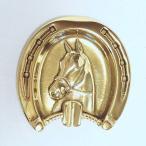 馬蹄ホース灰皿(アッシュトレー) 真鍮製品金色 ブラス イタリア製アンティーク調雑貨