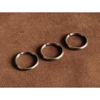 3個セット 真鍮製 二重リング(直径20mm)ゴールド ダブルリング: カスタムパーツ キーホルダー キーリング 二重カン 材料 ブラス