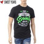 SWEET YEARS スウィートイヤーズ メンズ クルーネック Tシャツ 半袖 ブラック SYU3411