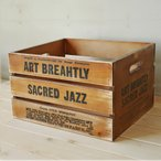 木箱 フリーボックスアンティーク インテリア 収納ボックス 木製 取っ手付き BREA