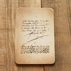 木製 ポストカード アンティーク レトロはがき  BREAブレア