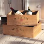 収納ケース 木箱 ワイン木箱 アンティーク ストッカー ウッドボックスカラー大 BREAブレア