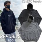 17-18 REPUBLIC&CO/TENDER hoodie 撥水パーカー メンズ レディース スノーボード スケ−ト アパレル 予約商品 2018