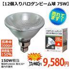 セット割 ビーム球 ハロゲン ランプ 75W 150W形 電球 口金E26 散光形 屋内外 省エネ 長寿命 JDR110V75WK12F