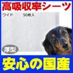 コーチョー 日本製業務用シーツ ペットシーツ 厚型 ワイド 50枚