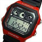 CASIO Standard カシオ スタンダード カウントダウンタイマー メンズ腕時計 ラバーベルト ブラック/レッド 海外モデル AE-1300WH-4A