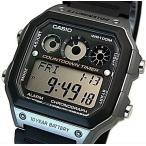 CASIO Standard カシオ スタンダード カウントダウンタイマー メンズ腕時計 ラバーベルト ブラック/グレー 海外モデル AE-1300WH-8A