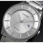 CITIZEN / エコドライブ シチズン メンズ ソーラー腕時計 シルバー文字盤 メタルベルト AW1260-50A 海外モデル