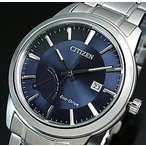 CITIZEN エコドライブ シチズン メンズ ソーラー腕時計 パワーリザーブ付 ネイビー文字盤 メタルベルト 海外モデル AW7010-54L