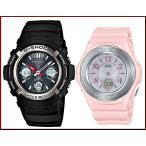 CASIO / G-SHOCK / Baby-G カシオ / Gショック /ベビーG ペアウォッチ ソーラー電波腕時計 ブラック/ピンク 国内正規品 AWG-M100-1AJF/BGA-1050-4BJF