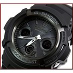 CASIO/G-SHOCK カシオ / Gショック ソーラー電波腕時計 アナデジモデル マルチバンド6 マットブラック AWG-M100B-1A 海外モデル