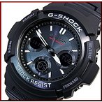 CASIO/G-SHOCK カシオ / Gショック ソーラー電波腕時計 アナデジモデル メタルコアバンド ブラック 国内正規品 AWG-M100SBC-1AJF