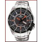 CASIO EDIFICE カシオ エディフィス メンズ腕時計 ブラック/オレンジ文字盤 メタルベルト 海外モデル EF-130D-1A5 EF-130D-1A5