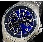 CASIO EDIFICE カシオ エディフィス マルチファンクション メンズ腕時計 ネイビー文字盤 メタルベルト 海外モデル EF-316D-2A