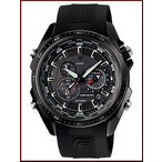 CASIO EDIFICE カシオ エディフィス ソーラー腕時計 クロノグラフ メンズ ブラック文字盤 ブラックラバーベルト 海外モデル EQS-500C-1A1