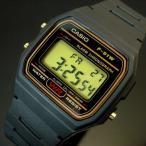 CASIO カシオ メンズ腕時計 デジタル ブラック/ゴールド文字盤 ブラックラバーベルト F-91WG-9 海外モデル