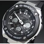 CASIO G-SHOCK ������ G����å� G-STEEL G�������� S������ �����顼�����ӻ��� ��� �֥�å�ʸ���� �֥�å���С��٥�� ������ǥ� GST-W300-1A