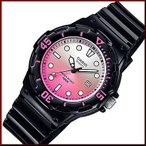 CASIO Standard カシオ スタンダード アナログクォーツ レディース腕時計 ラバーベルト ピンク文字盤 海外モデル LRW-200H-4E