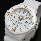 CASIO Standard カシオ スタンダード アナログクォーツ レディース腕時計 ホワイトラバーベルト ホワイト文字盤 海外モデル LRW-200H-7E2