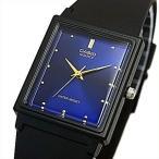 CASIO Standard カシオ スタンダード アナログクォーツ メンズ腕時計 ラバーベルト ネイビー/ゴールド文字盤 海外モデル MQ-38-2A