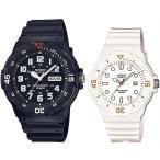 CASIO Standard カシオ スタンダード アナログクォーツ ペアウォッチ 腕時計 ラバーベルト ブラック/ホワイト 海外モデル MRW-200H-1B/LRW-200H-7E2