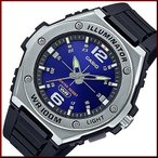 CASIO Standard カシオ スタンダード LEDライト付 メンズ腕時計 ラバーベルト ネイビー文字盤 海外モデル MWA-100H-2A