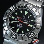 ORIENT M-FORCE オリエント エムフォース ダイバーズウォッチ メンズ腕時計 自動巻 ブラック文字盤 メタルベルト MADE IN JAPAN 海外モデル  SEL03001B0