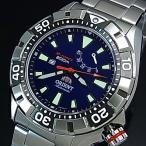 ORIENT M-FORCE オリエント エムフォース ダイバーズウォッチ メンズ腕時計 自動巻 ネイビー文字盤 メタルベルト MADE IN JAPAN 海外モデル  SEL03001D0