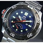 ORIENT M-FORCE オリエント エムフォース ダイバーズウォッチ メンズ腕時計 自動巻 ネイビー文字盤 メタルベルト MADE IN JAPAN 海外モデル  SEL06001D0