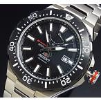 ORIENT M-FORCE オリエント エムフォース ダイバーズウォッチ メンズ腕時計 自動巻 ブラック文字盤 メタルベルト MADE IN JAPAN 海外モデル  SEL07002B0