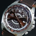 ORIENT オリエント メンズ腕時計 自動巻 万年カレンダー ブラウン文字盤 ブラウンレザーベルト MADE IN JAPAN 海外モデル SEU0B004TH