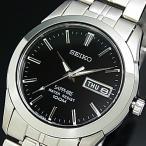SEIKO Quartz セイコー クォーツ メンズ腕時計 メタルベルト ブラック文字盤 SGG715P1 海外モデル