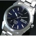 SEIKO / Quartz セイコー / クォーツ 軽量チタンモデル メンズ腕時計 メタルベルト ネイビー文字盤 SGG729P1 海外モデル