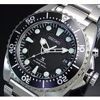 SEIKO PROSPEX KINETIC セイコー プロスペックス キネテック ダイバーズ メンズ腕時計 ブラック文字盤 メタルベルト SKA371P1 海外モデル