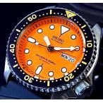 SEIKO / 200m diver's watch セイコー / 200m防水ダイバーズ 自動巻 メンズ腕時計 ラバーベルト オレンジ文字盤 MADE IN JAPAN SKX011J 海外モデル