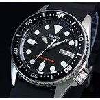 SEIKO 200m diver's watch セイコー 200m防水ダイバーズ自動巻 ボーイズ 腕時計 ブラックラバーベルト ブラック文字盤 海外モデル SKX013K