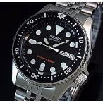 SEIKO 200m diver's watch セイコー 200m防水ダイバーズ自動巻 ボーイズ 腕時計 メタルベルト ブラック文字盤 海外モデル SKX013K2