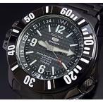 SEIKO / Sports セイコー5スポーツ / ファイブスポーツ アトラス LIMITED EDITION 自動巻 ダイバーズ メンズ腕時計 ブラックメタル 海外モデル SKZ217K1