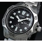 SEIKO PROSPEX ソーラー時計 セイコー プロスペックス DIVER'S ダイバーズウォッチ メンズ腕時計 メタルベルト ブラック文字盤 SNE107P1 海外モデル