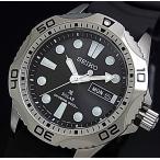 SEIKO PROSPEX ソーラー時計 セイコー プロスペックス DIVER'S ダイバーズウォッチ メンズ腕時計 ブラックラバーベルト ブラック文字盤 SNE107P2 海外モデル