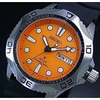 SEIKO PROSPEX ソーラー時計 セイコー プロスペックス DIVER'S ダイバーズウォッチ メンズ腕時計 ブラックラバーベルト オレンジ文字盤 SNE109P1 海外モデル