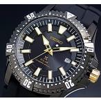 SEIKO / ソーラー時計 セイコー PROSPEX / プロスペックス ダイバーズウォッチ メンズ腕時計 ブラックラバーベルト ブラック文字盤 SNE373P1 海外モデル