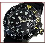 SEIKO ソーラー時計 セイコー PROSPEX プロスペックス ダイバーズウォッチ メンズ腕時計 ブラックケース ラバーベルト ブラック文字盤 海外モデル SNE441P1