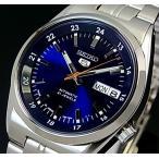 SEIKO / S EIKO5 セイコー5 / セイコーファイブ メンズ腕時計 自動巻 メタルベルト ネイビー文字盤 SNK563J1 MADE IN JAPAN 海外モデル