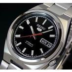 SEIKO / SEIKO5 セイコー5 / セイコーファイブ メンズ腕時計 自動巻 メタルベルト ブラック文字盤  SNKC55J1 MADE IN JAPAN 海外モデル