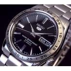 SEIKO / SEIKO5 セイコー5 / セイコーファイブ 自動巻 メンズ腕時計 メタルベルト ブラック文字盤 SNKE01J1 MADE IN JAPAN 海外モデル