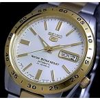 SEIKO SEIKO5 セイコー5 セイコーファイブ メンズ腕時計 自動巻 コンビメタルベルト シルバー文字盤 MADE IN JAPAN 海外モデル SNKE04J1