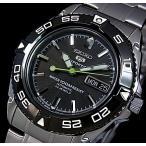 SEIKO / SEIKO5Sports セイコー5スポーツ / ファイブスポーツ 自動巻 メンズ腕時計 メタルベルト ブラック文字盤 SNZB23J1 MADE IN JAPAN 海外モデル